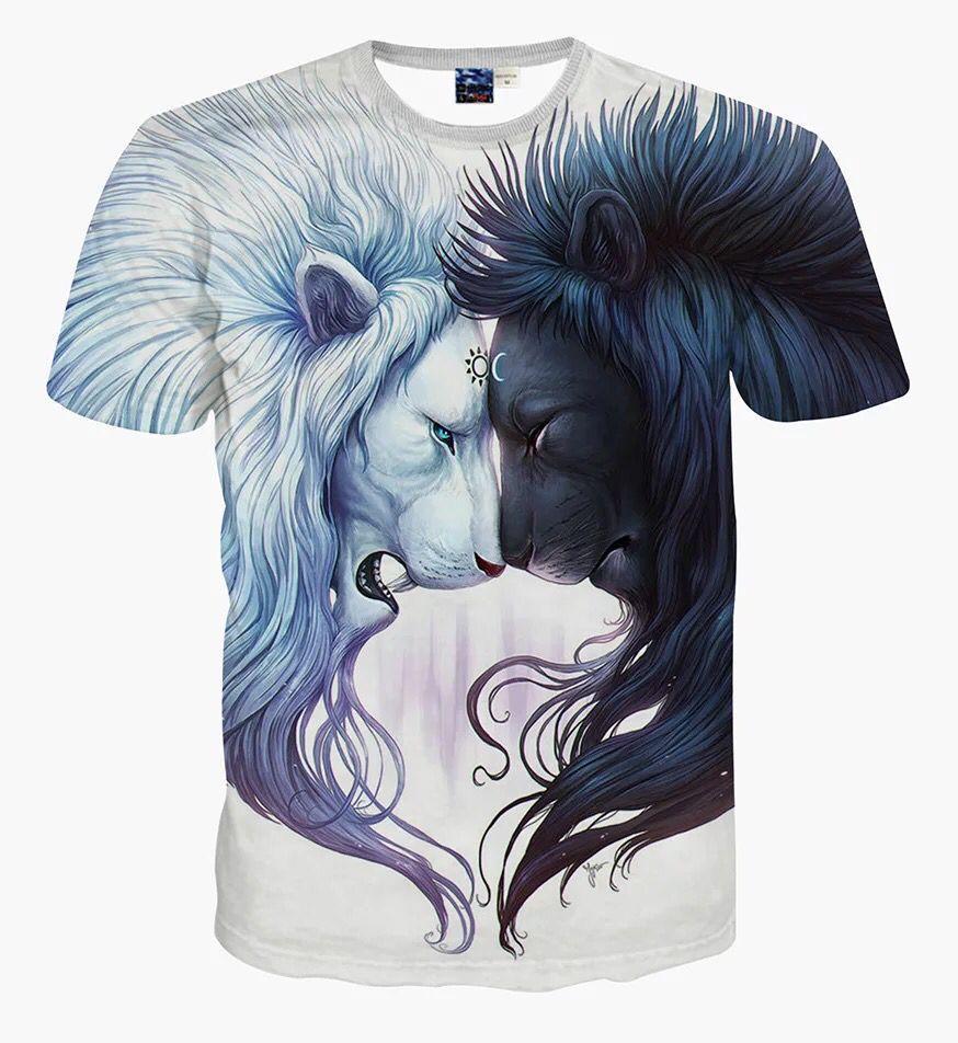 2018 Le Drôles T Mode De Lion Soleil Shirts À Shirt Imprimer Et Femme Homme 3d Nouveau Lune Décontractés La dxorCBe