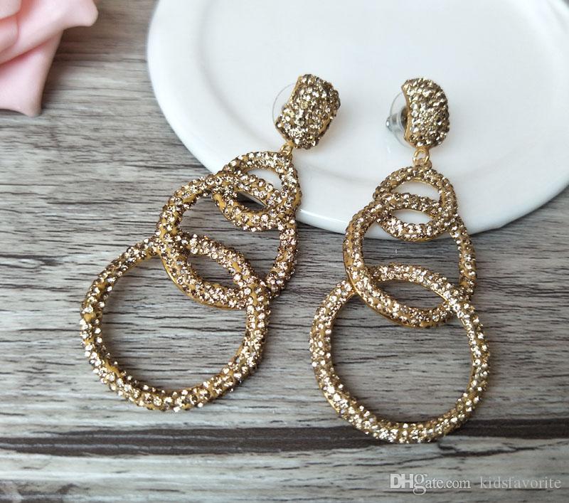 Cheap Flower Double Sided Earrings Wholesale Crystal Stud Earing Women b02e1ae97f80