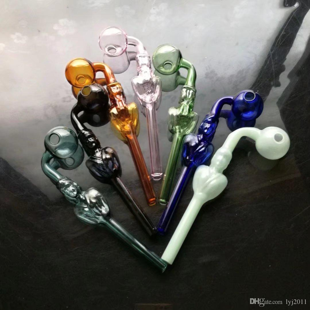 Nuove curve di bellezza di colore Bong di vetro all'ingrosso Bruciatore a olio Tubi di acqua in vetro Rigs di petrolio Rigs fumatori