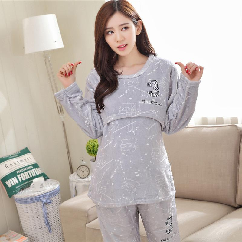 1e50097b91 Autumn Nightgown Adjustable Pajama for Feeding Maternity Clothes for ...