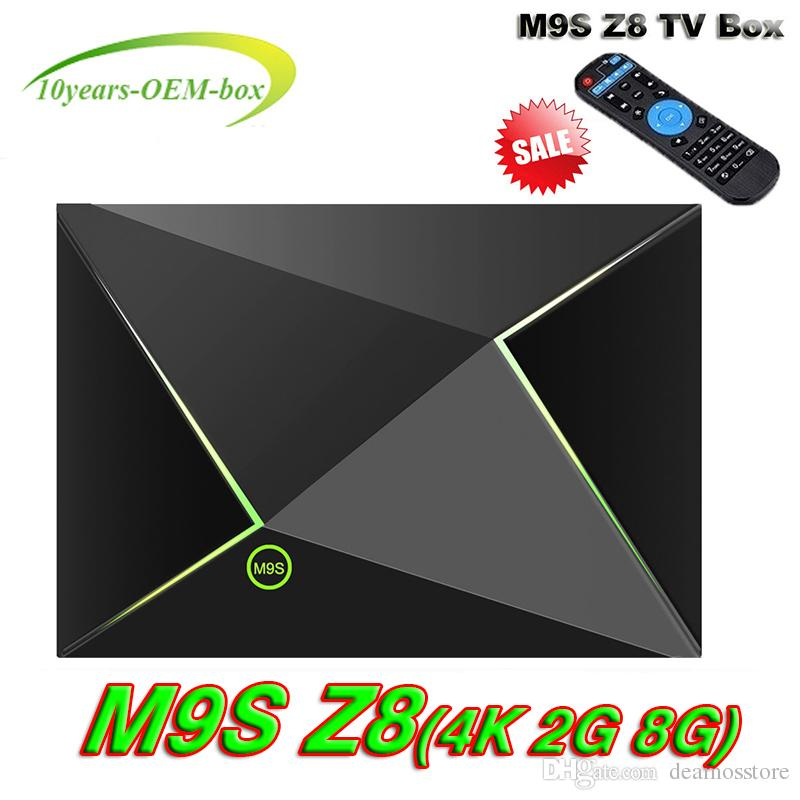 2GB 8GB M9S Z8 Android 6 0 Smart TV Box S905X Quad Core Media Box WiFi 100M  LAN H 265 4K Miracast supported LED light Boxes For Televisions