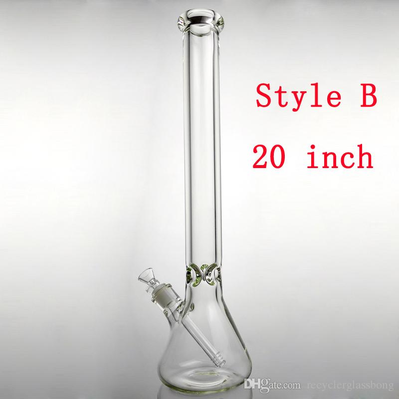 20 Inches Big Glass Bongs Beaker Bong 9mm Thickness Glass Wall Super Heavy Water Pipes With 14.4 mm Male Joint Glass Bowl