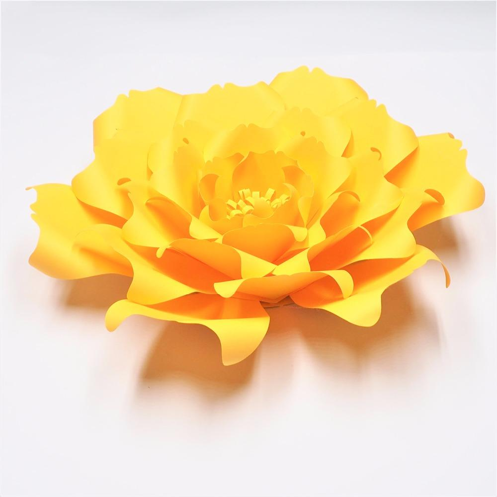 2018 Golden Yellow Giant Paper Flowers Nursery Wall Decor Wedding ...