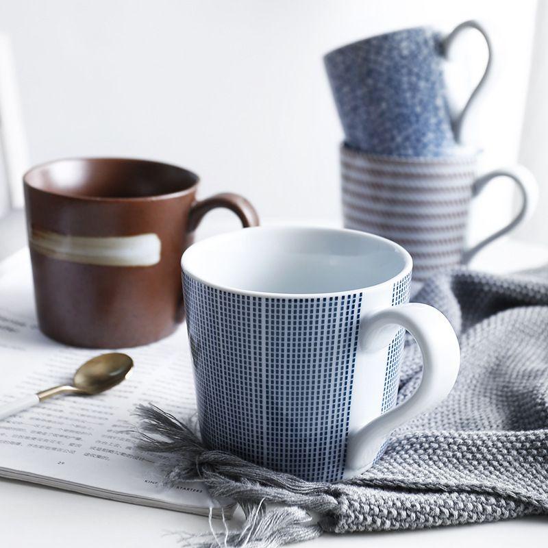 da08e74d880 Zen Spirit Japanese Porcelain Tea Cup Vintage Handmade Ceramic Mug with  Handle for Tea Coffee Milk Water Creative Housewarming Gifts