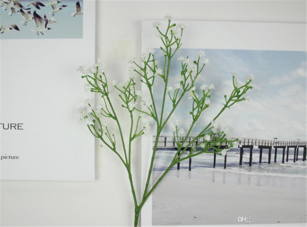 Value Fake Bouquet Baby's Breath Gypsophila Silk Flower Party Wedding Home Decor Head White Artificial Flowers Gypsophila Floral