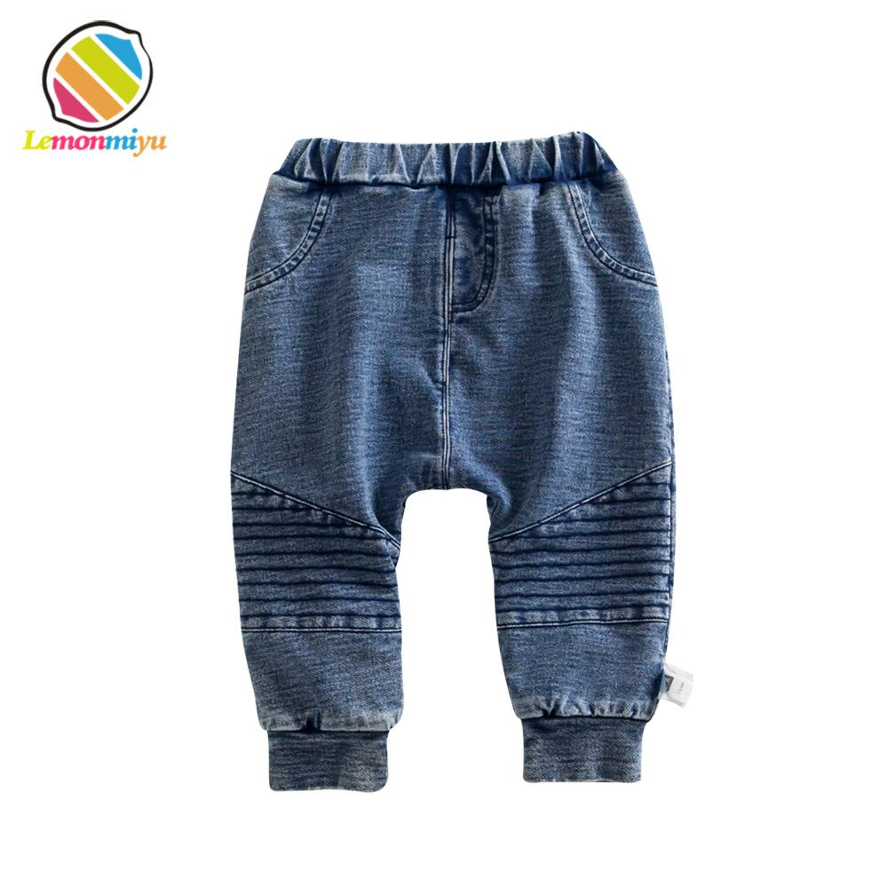 28a0995f61d7a Lemonmiyu Baby Winter Warm Jeans Pants Boys Thickened Full Leggings Fills  Baby Leggins Bottom Fleece Children Clothes Trousers Y18102307 Boys Pants  With ...