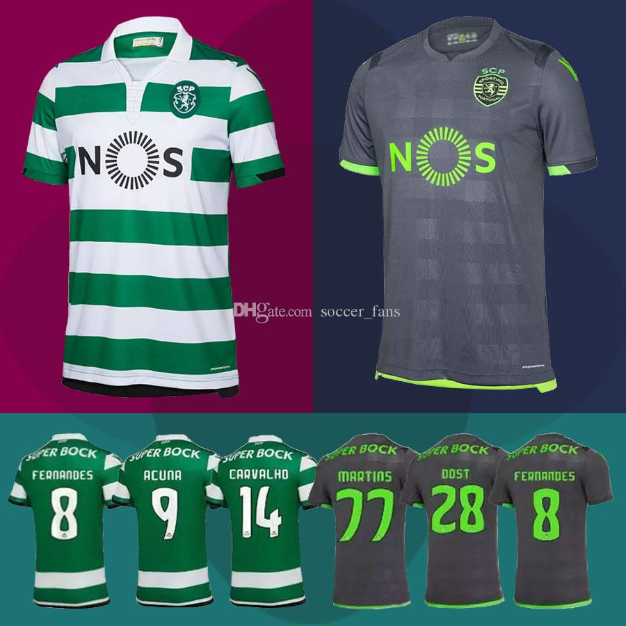 1441cbc6f0 New 2018 Lisbon Sporting Clube Jersey Home And Away 2019 NANI FERNANDES  DOST ACUNA COATES Football Shirt Sporting CP Futbol Camisa Maillot 2018  Lisbon ...