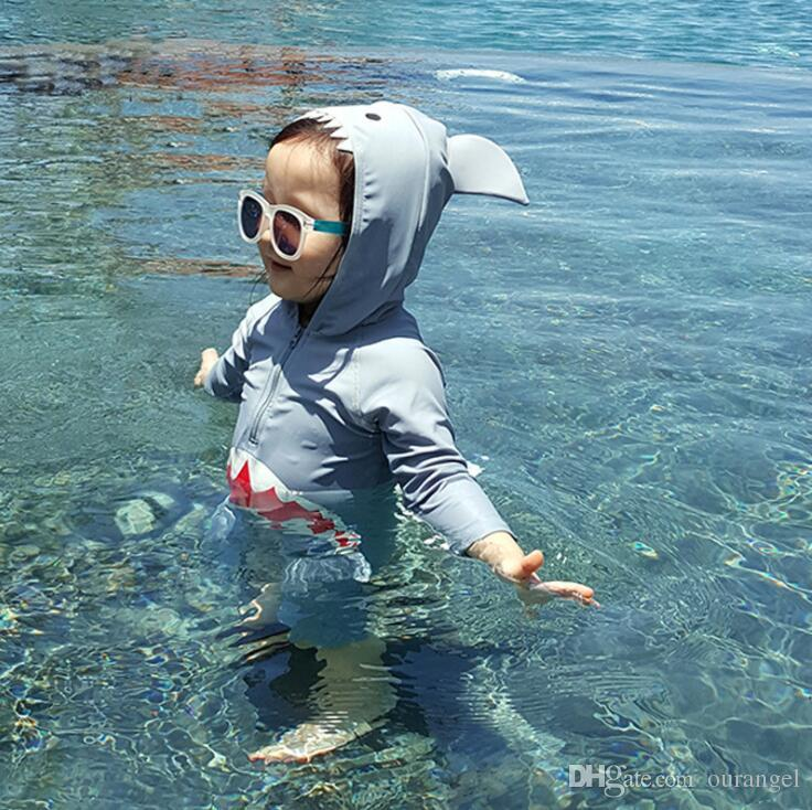 2019 Children Swimsuit Baby Boy Swimwear Animal Sharks Swimsuit Infant Baby  Bathing Suit Swimming Pool Clothing Uv Protection Suit From Ourangel 842a5660190