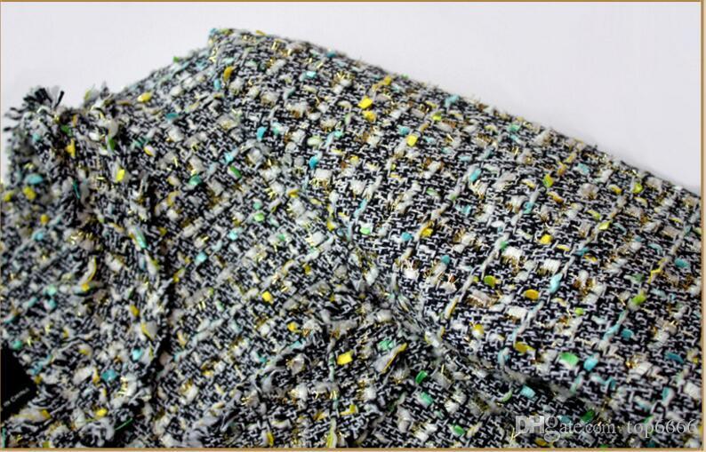 Abrigo de invierno de lujo de las mujeres Noble Banquete Corto ocio elegante tejido de terciopelo sexy Lana de punto Señoras OL abrigo de tweed tejido