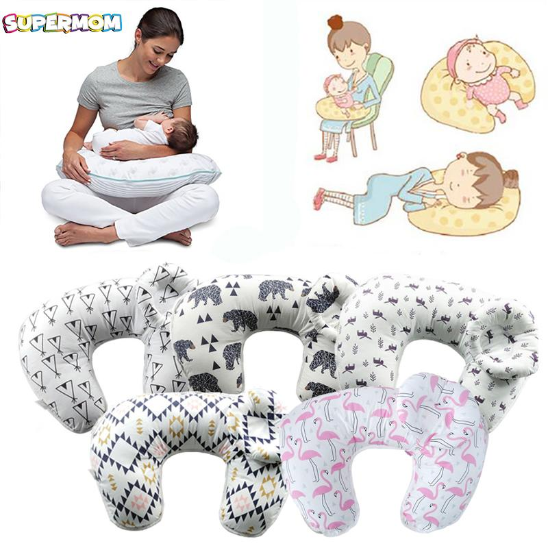 33ab6ecc3 Baby Nursing Pillows Pregnant Women Maternity Baby Breastfeeding Feeding U  Shaped Newborn Cotton Feeding Waist Cushion Blue Throw Pillows Teal Throw  Pillows ...