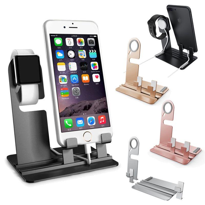 2 in 1 Ladestation für Apple Watch iWatch iPhone IPad Halter Handy Dock  Station