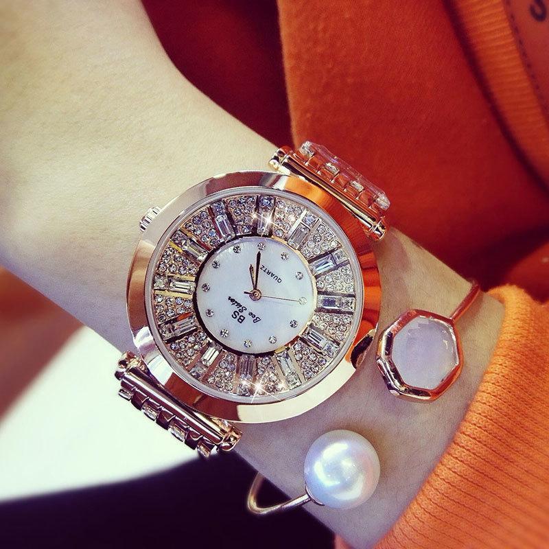 1e73f2e02fdf Compre es Relojes De Las Mujeres De Cristal Reloj Redondo Relojes De Oro Modernos  Para Damas De Lujo Femenino De Cuarzo Reloj De Las Mujeres Reloj Mujer ...