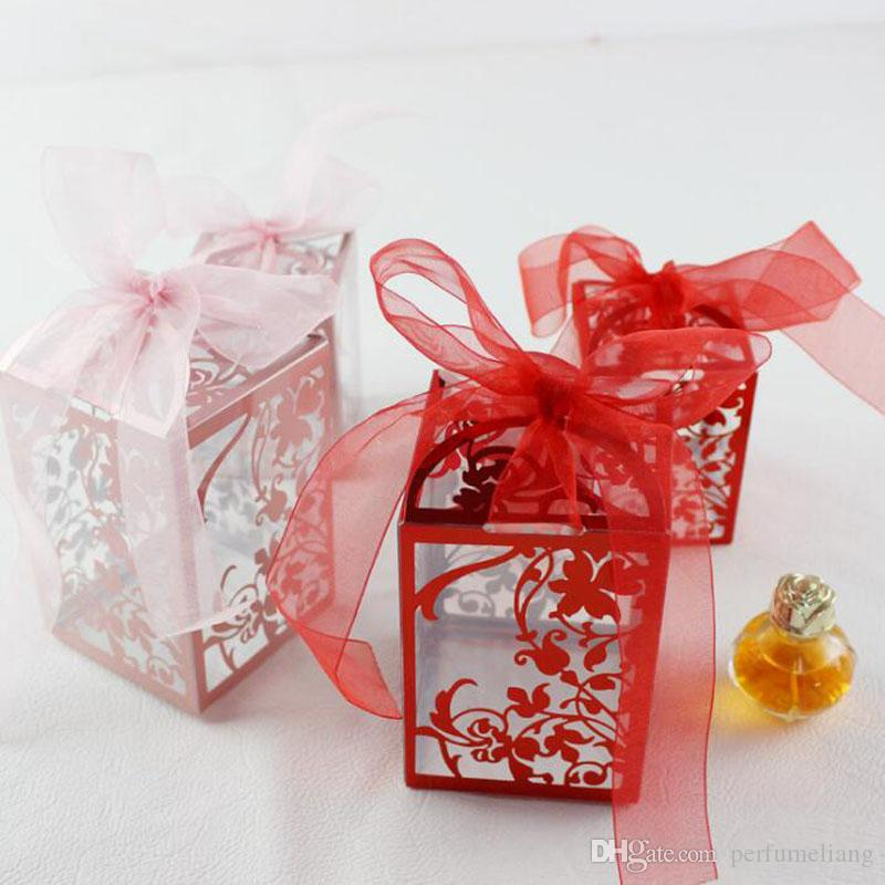 ПВХ партия свадьба пользу конфеты коробки душа ребенка подарочная коробка DIY творческий конфеты коробка романтический Mariage QW7059