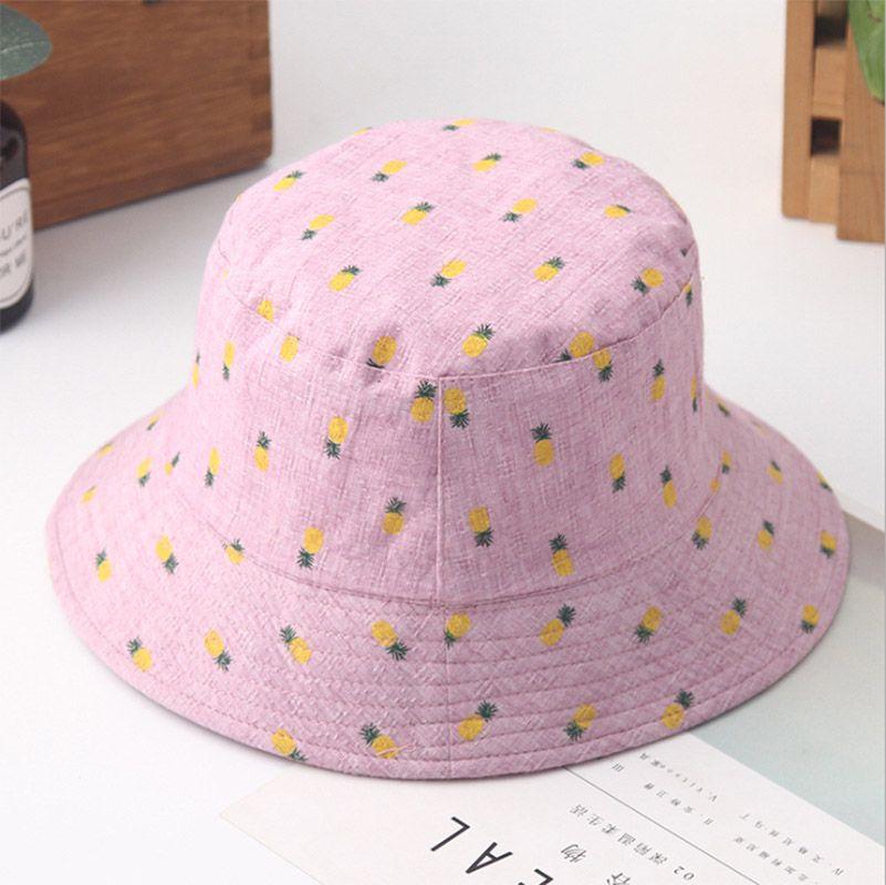f6ebbf93599 XINCAI 2018 Bucket Hat Fisherman Hats Women Outer Summer Street Dancer  Fashion Outdoor Pineapple Print Pattern Visor Cap Fedora Hats For Men  Cowgirl Hats ...