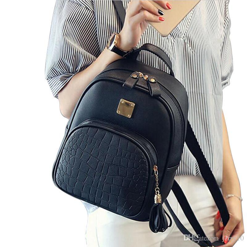 9b96607083 COOL WALKER New Fashion Women Backpacks Women S PU Leather Backpacks Girl  School Bag High Quality Ladies Bags Designer Bolsas Bags For Sale  Waterproof ...