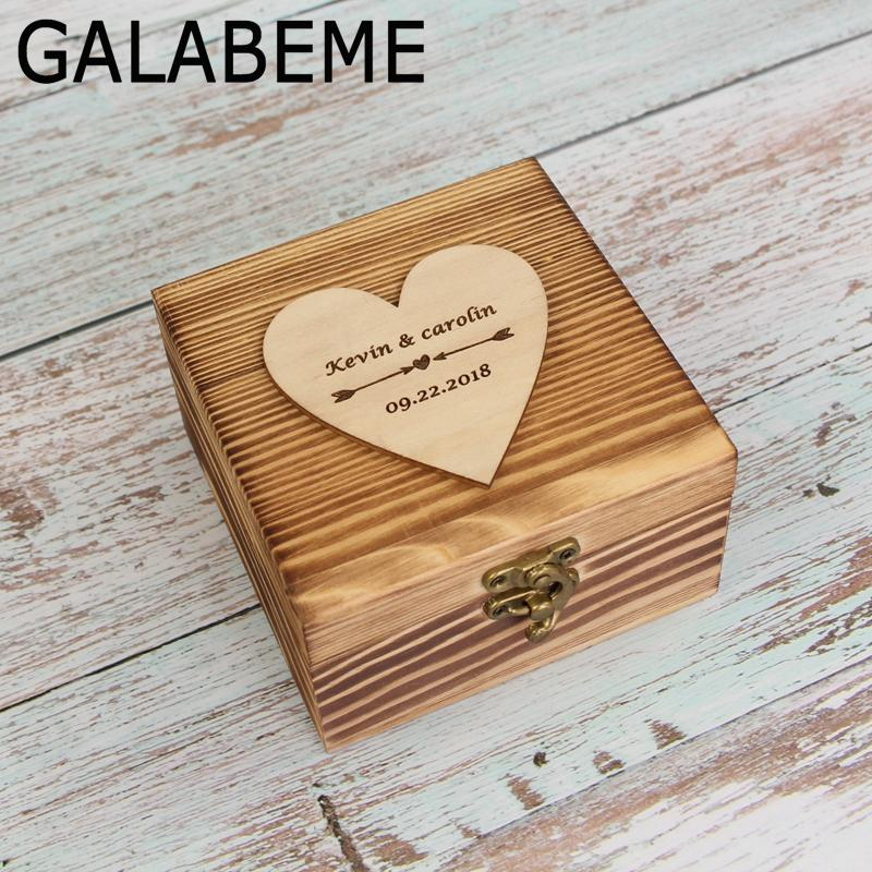 Grosshandel Grosshandel Personalisierte Vintage Hochzeit Holz Ring Box