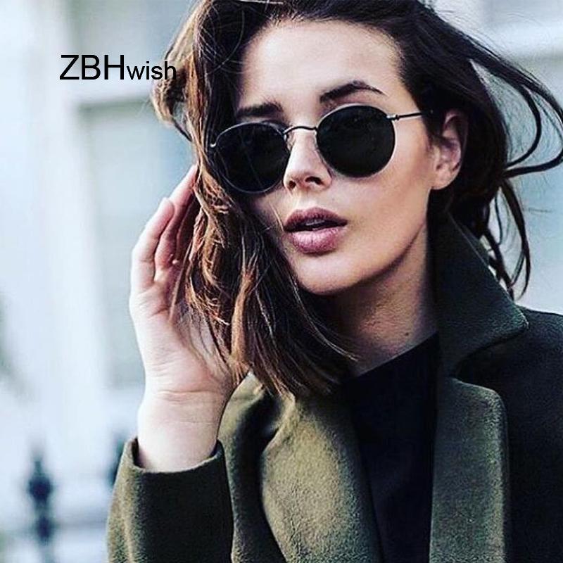 Compre 2018 Retro Rodada Óculos De Sol Das Mulheres Dos Homens Marca  Designer Óculos De Sol Para As Mulheres Liga Espelho Óculos De Sol Ray  Feminino Oculos ... 5990b83f0e