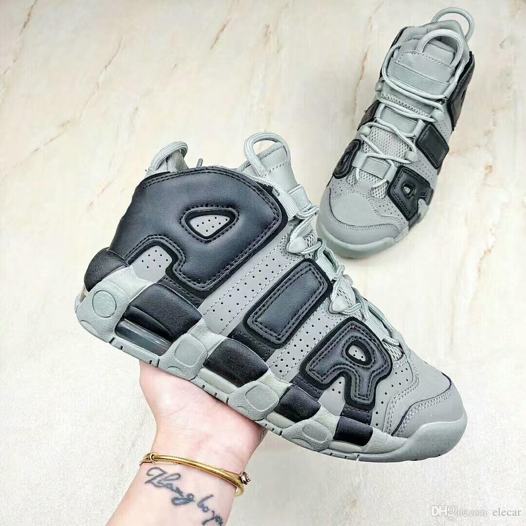best sneakers e222e 62e21 Großhandel Beste Qulity Luft Mehr Uptempo OG Basketballschuhe Mens 3M  Reflektierende Tri Farben Schuhe Womens Scottie Pippen Mode Turnschuhe  Größe 36 46 Von ...