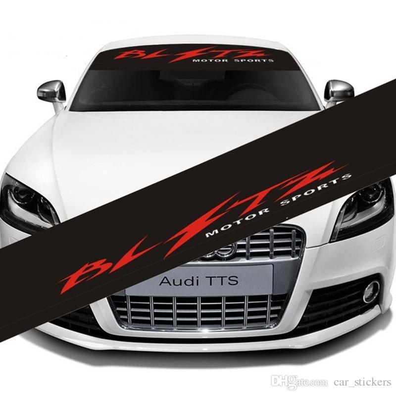 Araba Ön Pencere BLTZ cam Sticker Çıkartmaları Motor Sport cam Ön BMW Audi Bens Opel Fiat Için arka sticker