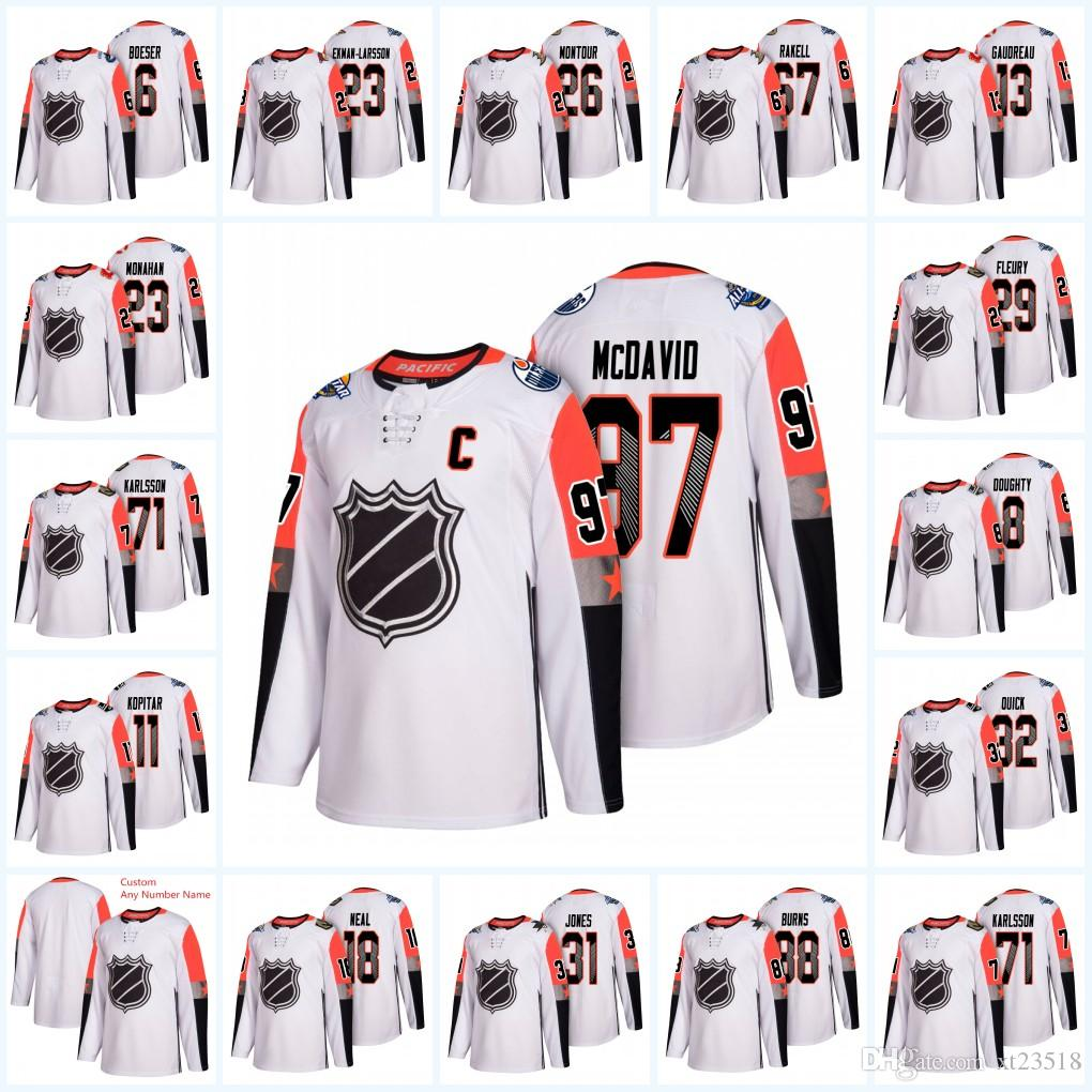2019 Mens Custom Pacific Division 63rd Hockey 2018 All Star Game Jersey  Connor McDavid Brent Burns William Karlsson James Neal All Star Jersey From  Xt23518 86786824c