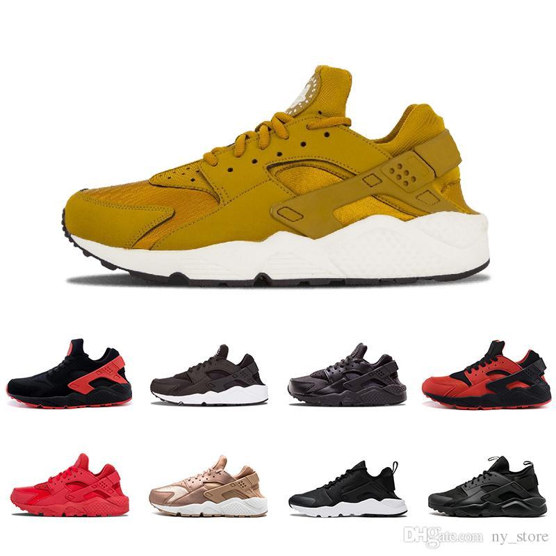 b7d6da4d6c1a Huarache 4.0 Iv 1.0 I Rose Gold Running Shoes Triple White Black Huraches Running  Trainers Men Womens Shoes Huaraches Sneakers 36 45 Running Sneakers Racing  ...