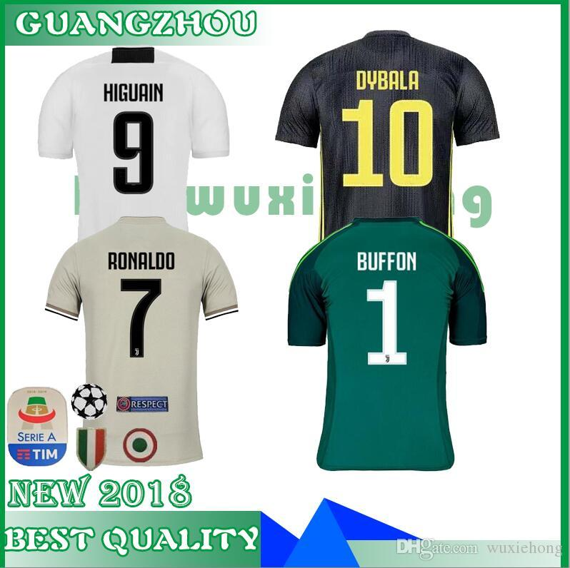 cc433f23aef RONALDO DYBALA MATUIDI 18 19 POGBA HIGUAIN CR7 Jersey Home Soccer 2018 2019  CUADRADO MARCHISIO MANDZUKIC Juventus 3RD WOMEN FOOTBALL Shirt UK 2019 From  ...
