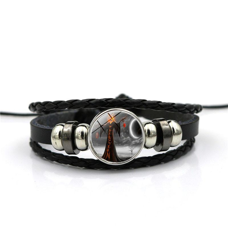 Wicked Witch bracelet Pumpkin Witchy Jewelry Witches necklace Witchcraft Wiccan Gift Black Kittens Glass bracelets