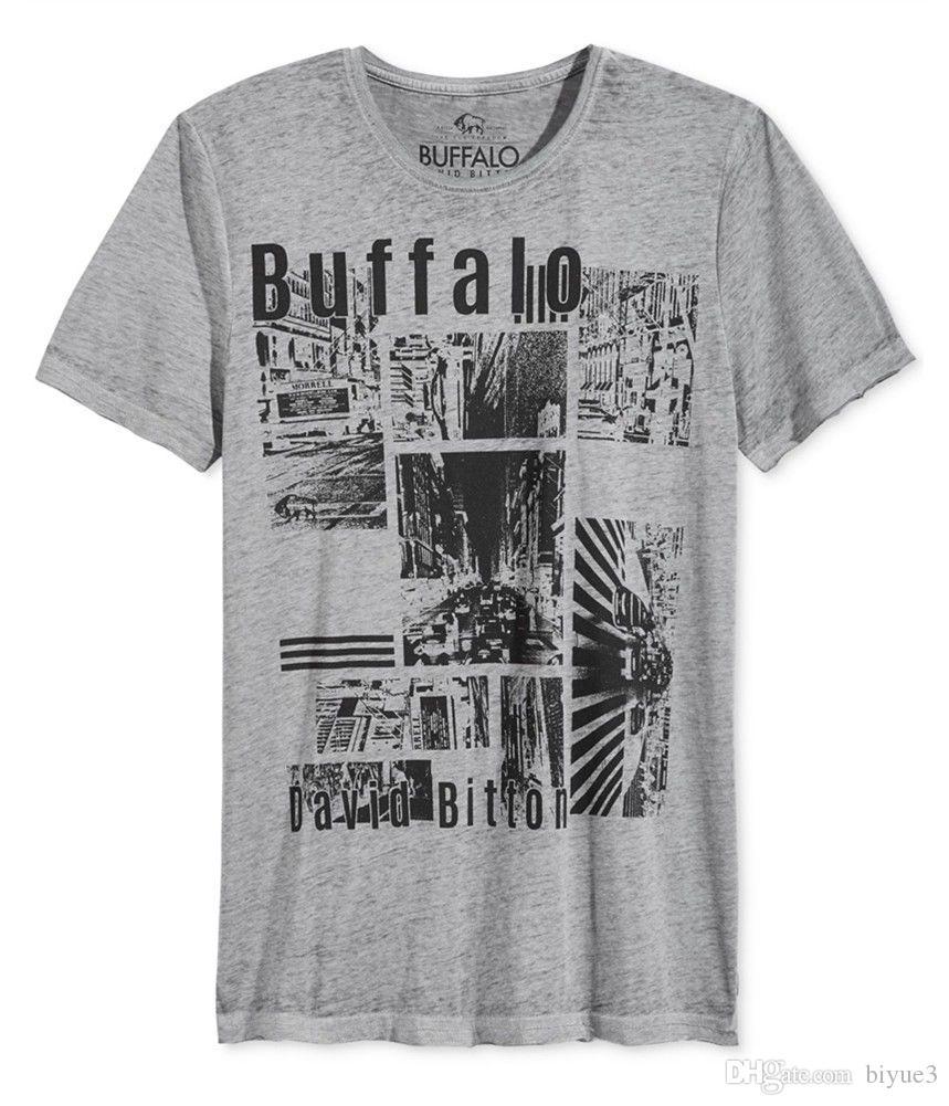 1ad3df6b Buffalo David Bitton Mens Patch Logo Graphic T-Shirt