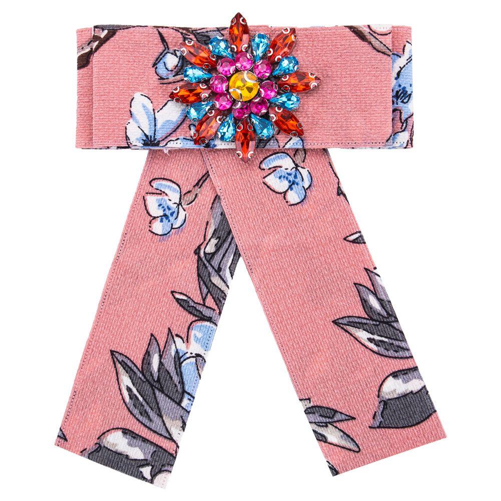 Bohe acrilico spilla spilla regalo di gioielli in fiore moda etnica promozione stoffa color cristallo arco spille le donne accessori di abbigliamento