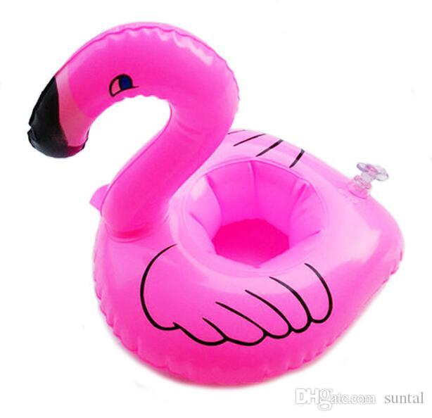 Mini Flamingo Floating Inflatable Drink Can Cell Phone Holder Stand Pool Toys Event & Party Supplies DHL Free