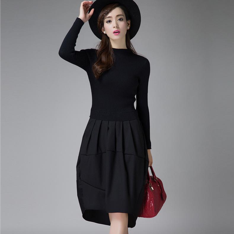 c71d63dc6 Compre 2018 Vestidos De Invierno Para Mujer Diseñador Coreano Casual High  Street Moda Moda Manga Larga Vestido De Suéter De Punto Sexy Y1102 95F  C18110701 A ...