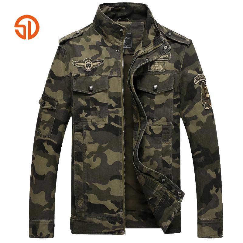 Camouflage Jacket Men Clothing 2018 Autumn Army Mens Jackets And