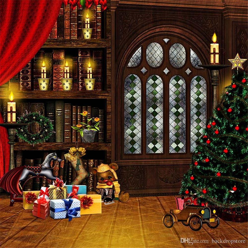 2018 Vintage Photography Backdrop Indoor Digital Printed Christmas ...