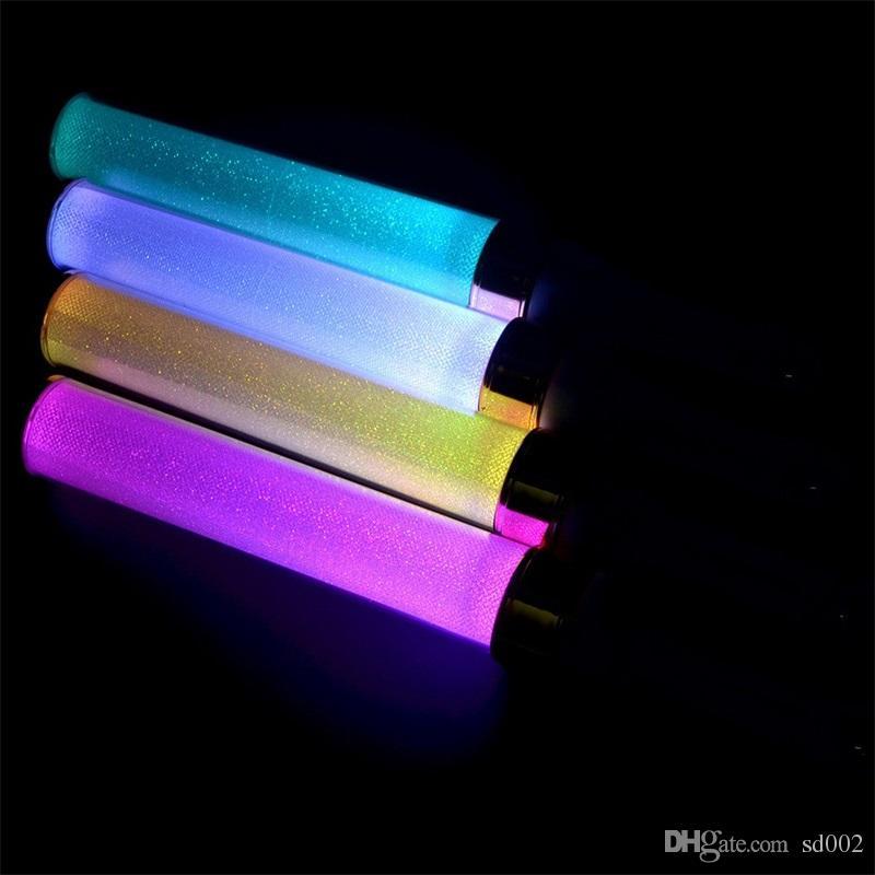 15 색 LED 라이트 스틱 일본 보컬 콘서트 보이스 전자 키잉 변수 빛나는 스틱 DJ 파티 깜박임 환송 소품 15sj YY