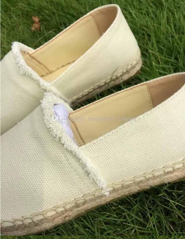 New Fashion Toile et Real Lambskin Femme Espadrilles Chaussures Plates Eté Mocassins Espadrilles Taille EUR34-42 Beaucoup de Couleurs avec Boîte