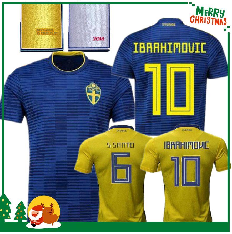 2018 2018 Sweden World Cup Home Kit Ibrahimovic Kallstrom Soccer Jerseys 18 Sweden  National Team Jerseys Football Shirt From Kongjunlin, $14.08 | Dhgate.Com
