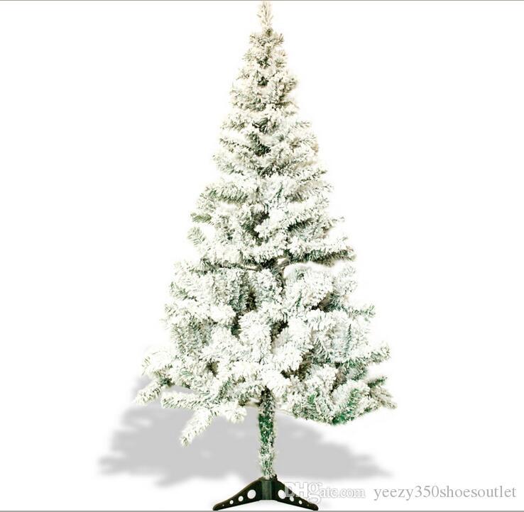 Großhandel Weihnachten Schneeflocke Beflockung Weihnachtsbaum PVC ...