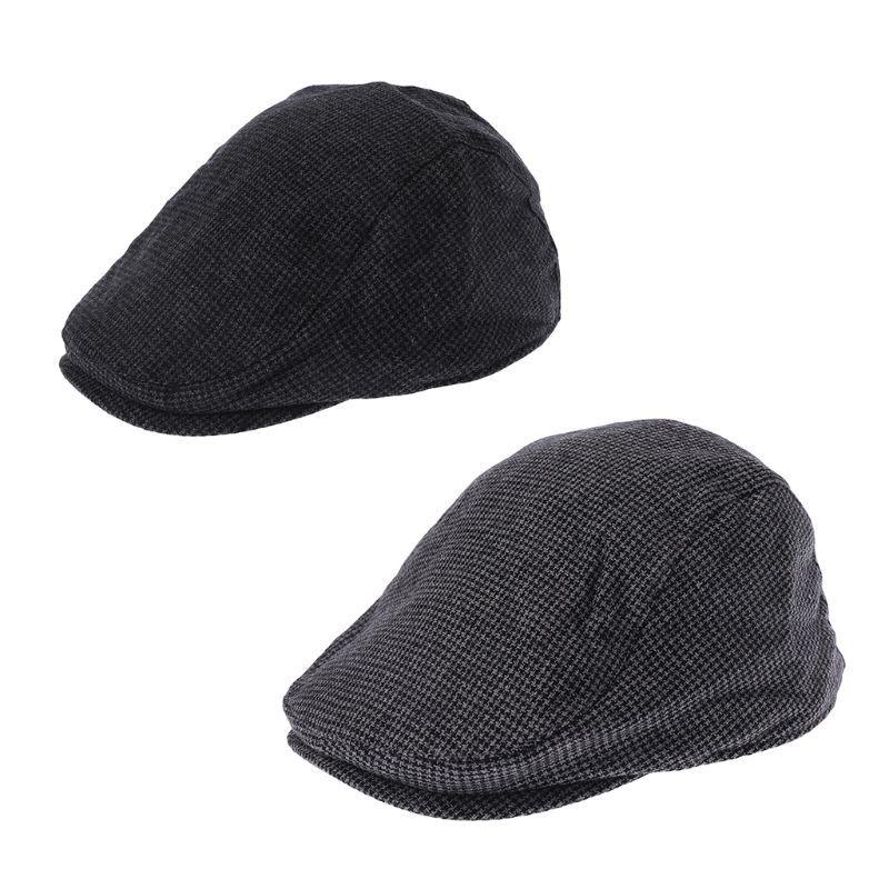 Compre Hot New 1 Unid Unisex Casual Winter Newsboy Cap Para Hombres ...