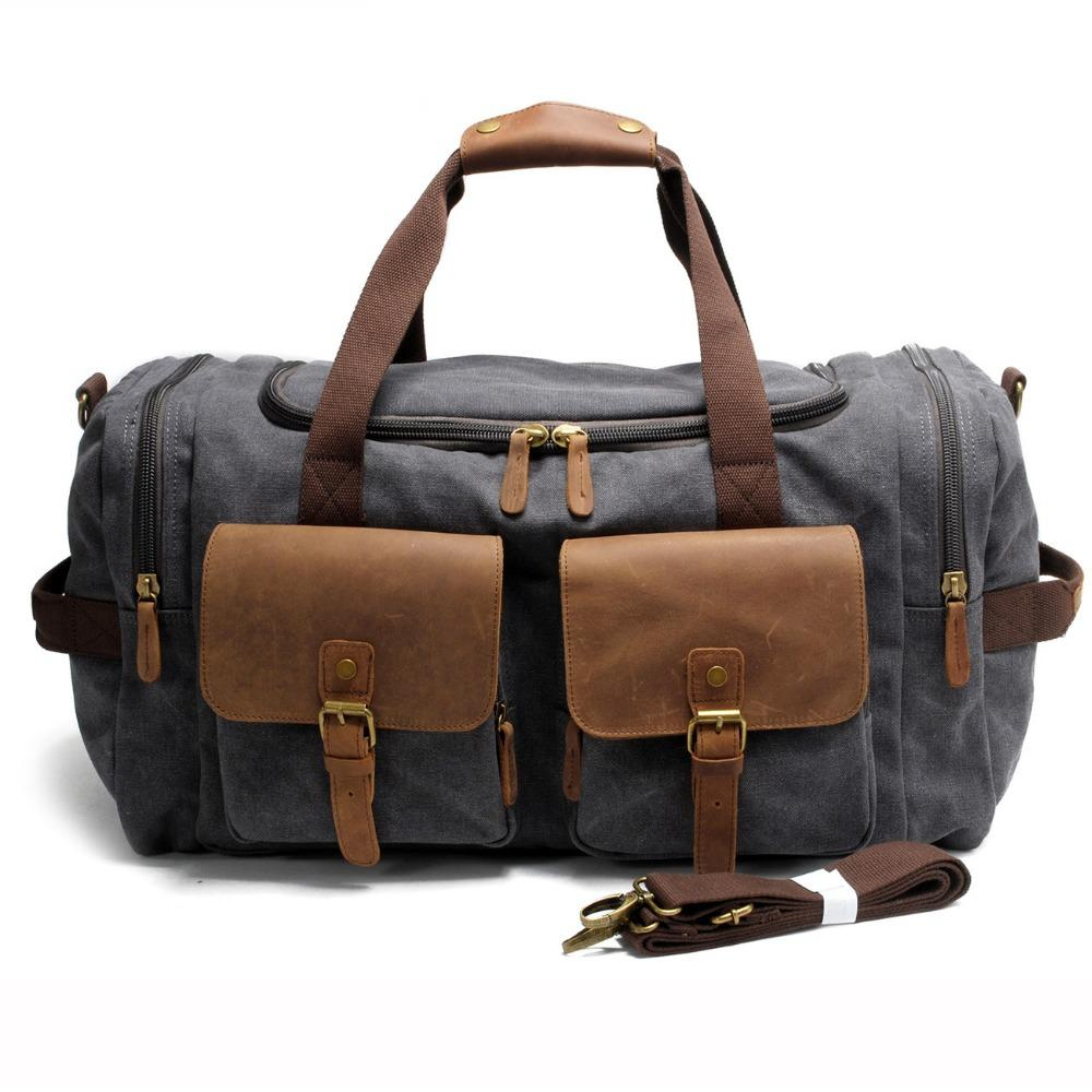 e9aa0dbbd062 2017 Vintage Canvas Men Travel Bags Carry on Luggage Bag Large Men ...