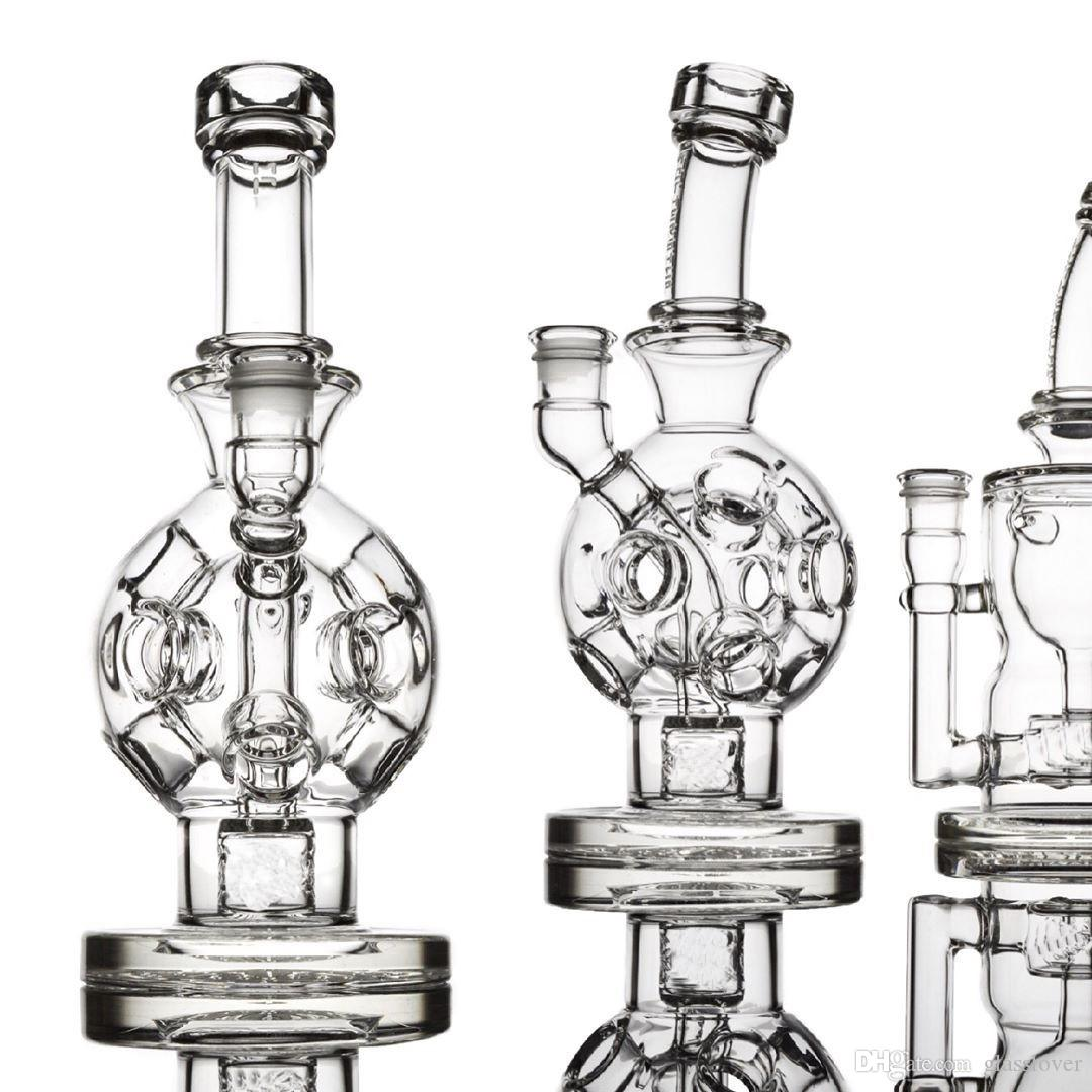 Exosphere Mother-Ship Ball Rigs Glass Bongs Solid Glass Water Pipes Wax Smoking Pipes Fab Egg Hot Sale Free Shipping With Bowls