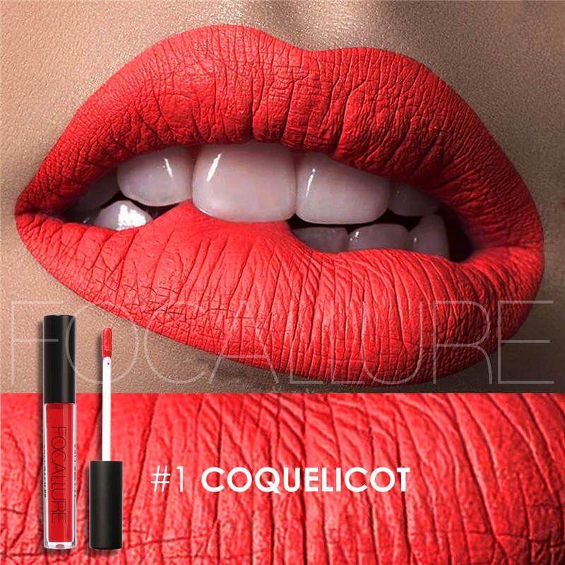 Focallure Lip gloss Lip Tint Cosmentic Waterproof Lipgloss Pigment Sexy Lip kit Matte Liquid Lipstick Nude Makeup