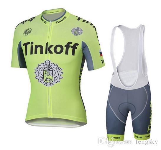 Hot Tour De France Cycling Jerseys Tinkoff Saxo Bank Bike Wear Short ... 6603a6b0d