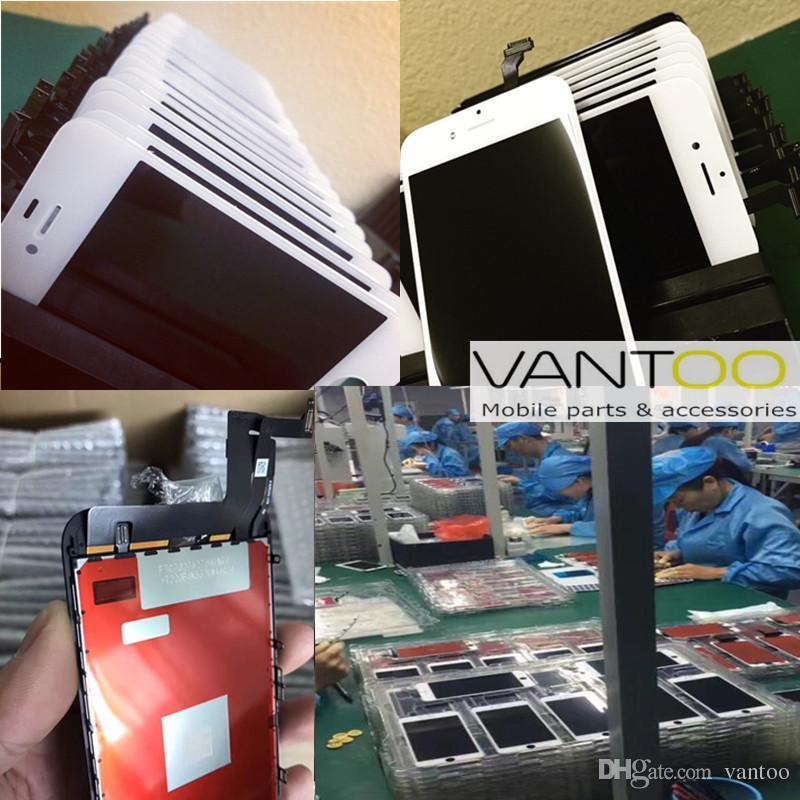 100٪ oem الأصلي شاشة lcd شاشة لمس محول الأرقام للهاتف 7 7 زائد إصلاح الشاشة استبدال شحن مجاني دي إتش إل