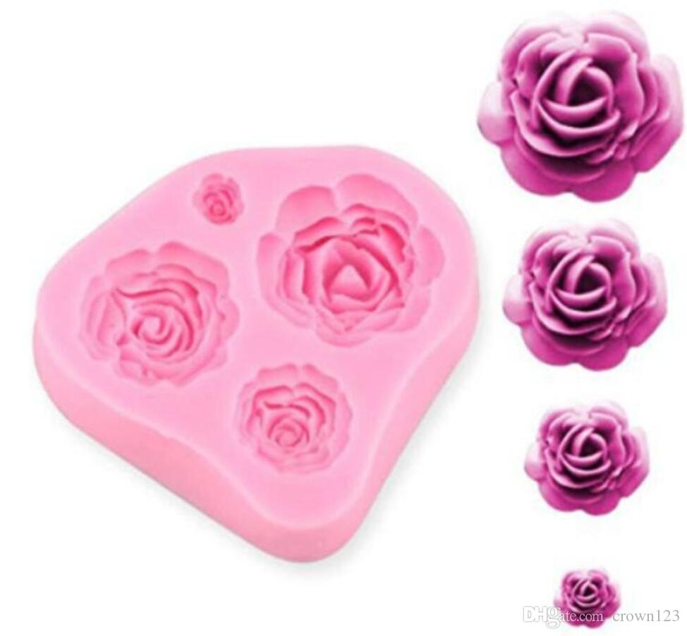 Silicone Cake Mold 3D Rose Flower Fondant Chocolate Mould DIY Decorating Tool Silicone Sugar mini mold Craft Molds DIY Cake Decorating Mold