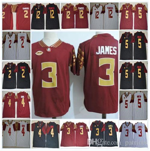 Mens NCAA FSU Derwin James College Football Jerseys Deion Sanders Dalvin  Cook Jameis Winston Deondre Francois Florida State Seminoles Stitch UK 2019  From ... dda1f2adf