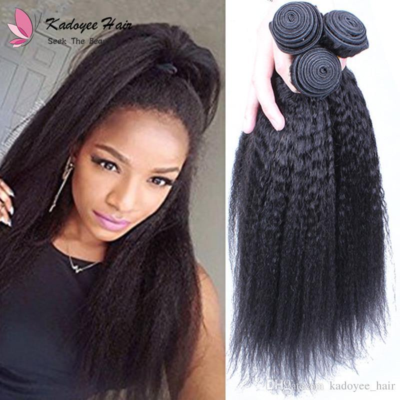 2018 New Kinky Straight Yaki Virgin Remy
