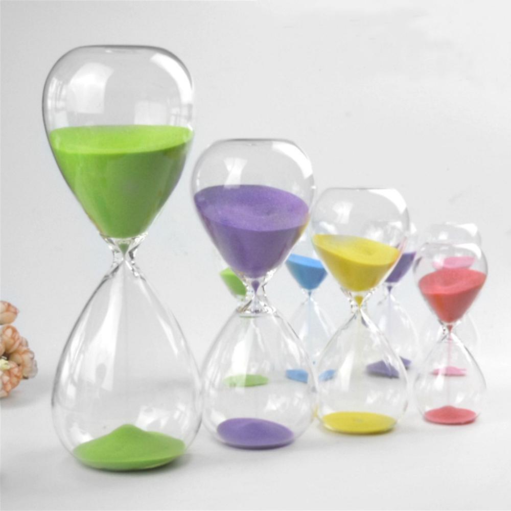 Großhandel 15 Minuten Transparentes Glas Sand Timer Uhr Sanduhr