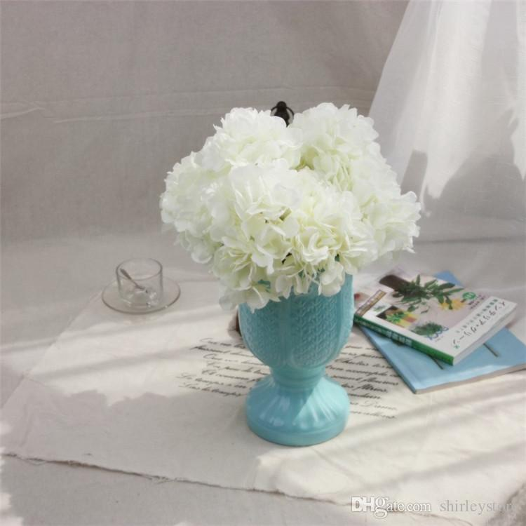 2019 Factory Wholesale Artificial Silk Hydrangea Flower Bouquet Simulation Flowers Wedding Home Furnishing Decoration