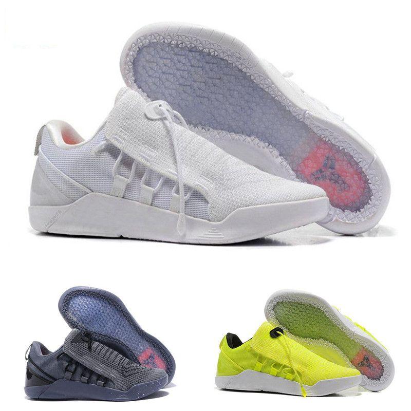meet 660dd 2e1bb Großhandel 2018 Kobe A.D. Nxt Basketball Schuhe Kb 12 Zoom Mambacurial Herren  Turnschuhe Sport Oreo Schwarz Weiß Fluorescence Eur 40 46 Von  Sneakershoes8, ...