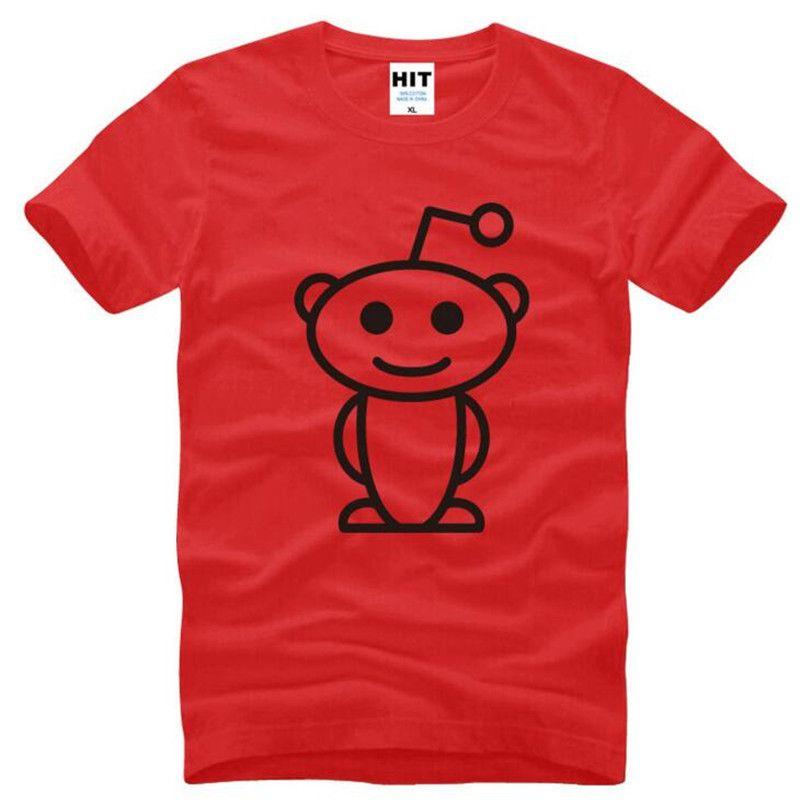 Cute Reddit Aliens Printed T Shirt Men Summer Style Short Sleeve O-Neck Cotton Men's T Shirt Fashion Top Tee Camisetas Hombre